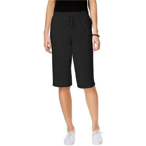 Karen Scott Womens Pull-On Casual Bermuda Shorts - PP