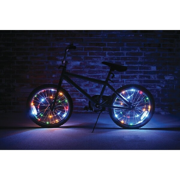 Wheel Brightz Lightweight LED Bicycle Safety Light Multicolored - multi