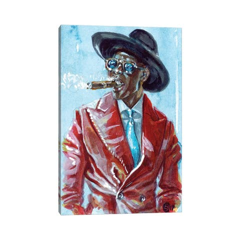 """iCanvas """"A Man and His Cigar"""" by Sunflowerman Canvas Print"""