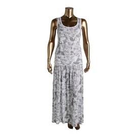 Three Dots Womens Plus Modal Blend Printed Maxi Dress
