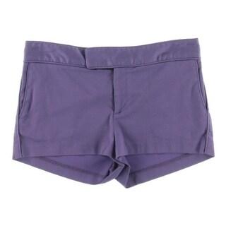 Catherine Malandrino Womens Twil Flat Front Casual Shorts - 4