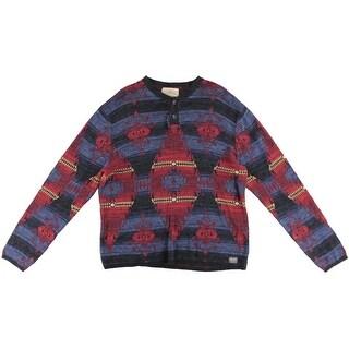Denim & Supply Ralph Lauren Mens Cotton Ribbed Trim Henley Sweater - XL