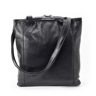 Winn International Leather Tote Bag Handbag with Three Compartments - One size