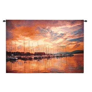 "Marina Sunrise II Wall Hanging Tapestry 70"" x 50""