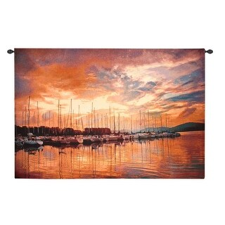 "Marina Sunrise II Wall Hanging Tapestry 70"" x 50"""
