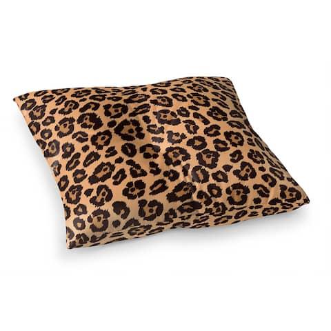 LEOPARD PRINT NATURAL Floor Pillow by Kavka Designs
