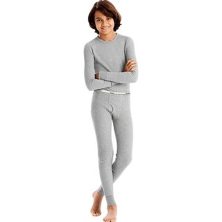 Hanes X-Temp®; Boys' Organic Cotton Thermal Set - Size - S - Color - Grey Heather