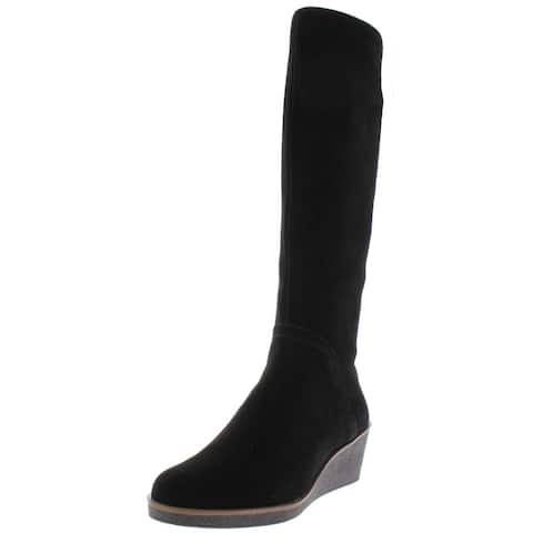 Aerosoles Womens Binocular Knee-High Boots Suede Cold-Weather
