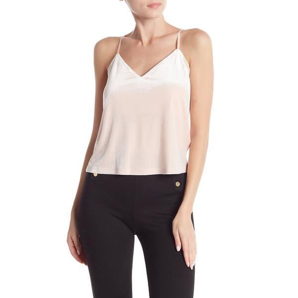 Shop Free Press Pink Women S Size Large L V Neck Velvet Tank Cami Top On Sale Overstock 28605990