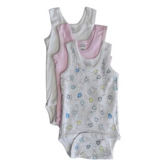 Bambini Baby Girls Multi Color Variety Sleeveless 3-Pack Tank Bodysuits