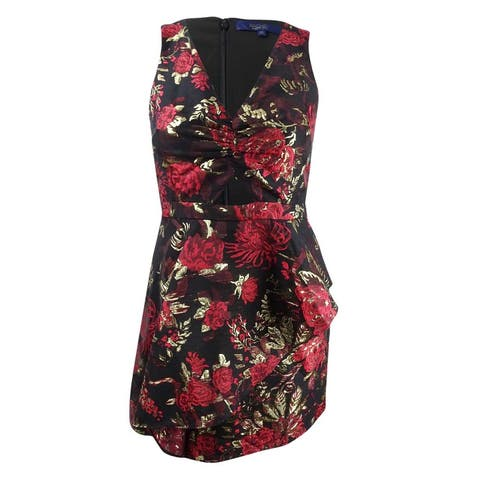 Rachel Rachel Roy Women's Asymmetrical Peplum Dress (14, Black Combo) - Black Combo - 14