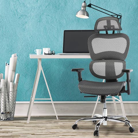 Ergonomic Office Chair Rolling Home Desk Chair with 4D Adjustable Armrest, 3D Lumbar Support Computer Chair, Gaming Chairs