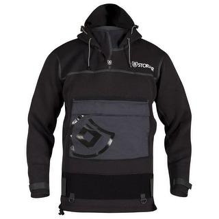 Stormr Shirt Mens Surf Long Sleeve Hood Black R615MT