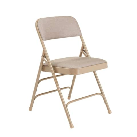 (4 Pack) NPS Fabric Upholstered Premium Reinforced Folding Chairs