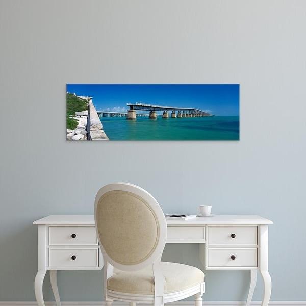 Easy Art Prints Panoramic Images's 'Seven Mile Bridge, Moser Channel, Florida Keys, Monroe County, Florida' Canvas Art