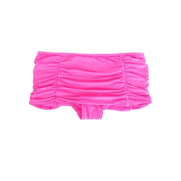85e9c8fd79 Shop Coco Rave Women's Lux Ruched Swim Skirt (Bright Pink, S) - Bright Pink  - S - Free Shipping On Orders Over $45 - Overstock - 21344236
