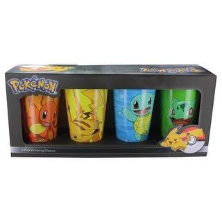 Pokemon Character Pack Pint Glasses, 4-Pack - Multi