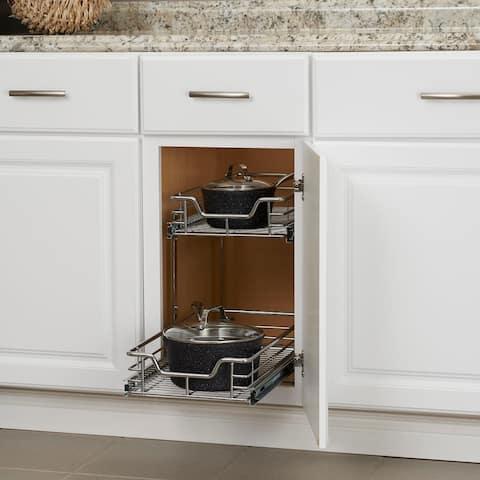 Household Essentials Glidez Steel Slide Out Cabinet Organizer, Chrome