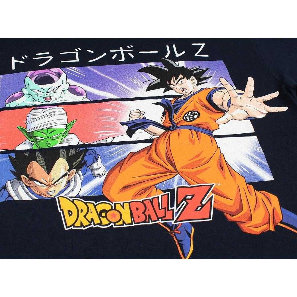 Dragon Ball Z Shirt Men's Goku Vegeta Piccolo Frieza Kanji Script T-Shirt