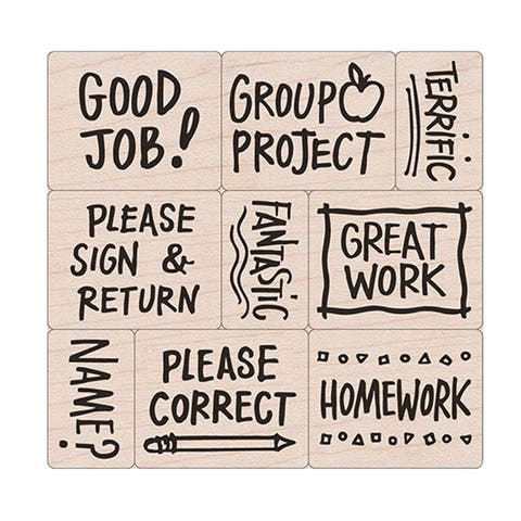 Big 'n' Little Notes From The Teacher Stamps, Set of 9 - One Size
