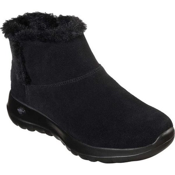 b34802c8f0 Shop Skechers Women's On the GO Joy Bundle Up Ankle Boot Black/Black ...