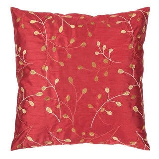 Surya HH-093 Square Indoor Decorative Pillow with Down or Polyester Filling from the Blossom Collection
