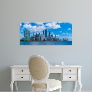 Easy Art Prints Panoramic Images's 'Skylines at the waterfront, Miami, Miami