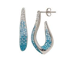 Crystaluxe Earrings with Ombre Swarovski elements Crystals in Sterling Silver