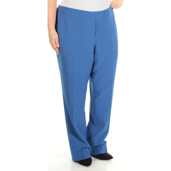 fcfe2a3c2f3 Shop ANNE KLEIN Womens Blue Wear To Work Pants Plus Size  16W - On Sale -  Free Shipping On Orders Over  45 - Overstock.com - 23451677
