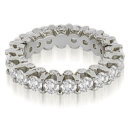3.20 cttw. 14K White Gold Round Diamond Eternity Ring