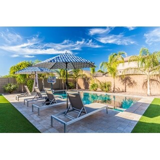 Cape Coral Aluminum Adjustable Chaise Lounges (Set of 4) by Christopher Knight Home