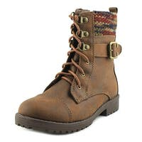 Sugar Creme Brulee Youth  Round Toe Synthetic Brown Ankle Boot