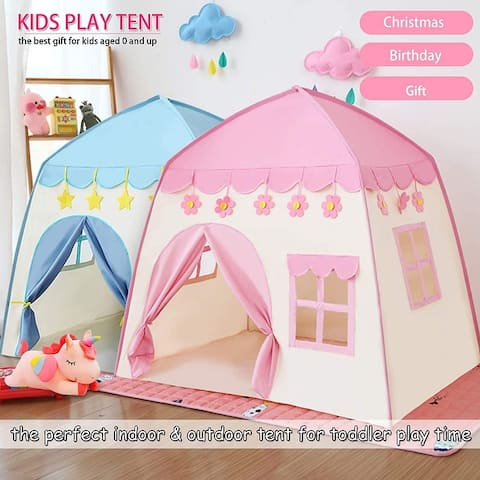 Kids Play Tent Playhouse Indoor & Outdoor, Princess Castle Tent