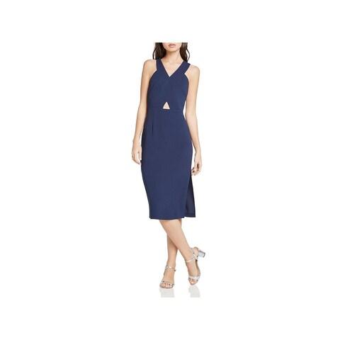 BCBGeneration Womens Casual Dress Cut-Out Zipper