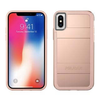 Pelican Protector Dual Layer Rugged Protection Case for iPhone X - Rose Gold