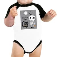 Trick-Or-Treat Baseball Shirt For Baby Halloween Costume Tshirt