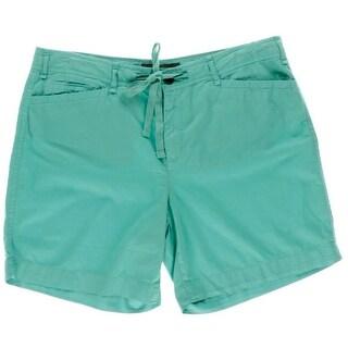 LRL Lauren Jeans Co. Womens Cotton Flat Front Casual Shorts