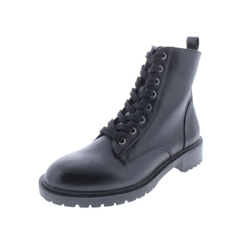 Steve Madden Womens Officer Combat Boots Lace-Up