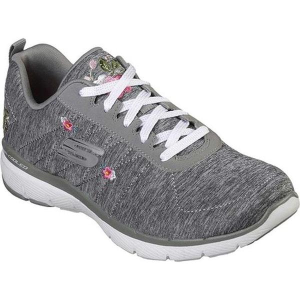 63c676b8aa9d Shop Skechers Women s Flex Appeal 3.0 In Blossom Sneaker Gray - Free  Shipping Today - Overstock - 25578119