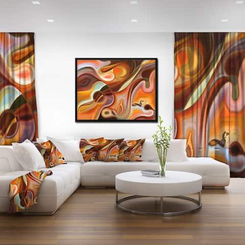 Designart 'Music Dreams' Abstract Framed Canvas Art Print