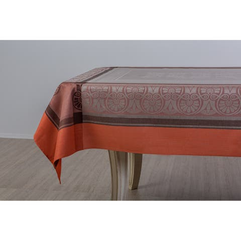 STP Goods Orange Cotton Linen Hellas Tablecloth