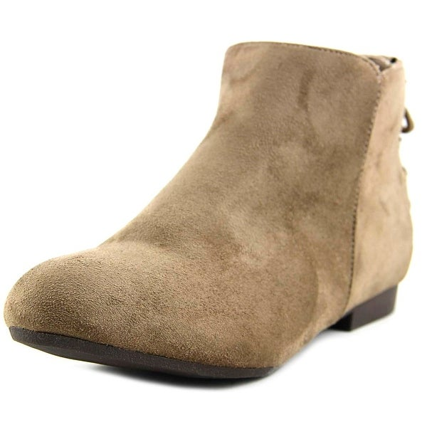 GC Shoes Rocca Women Round Toe Suede Tan Ankle Boot
