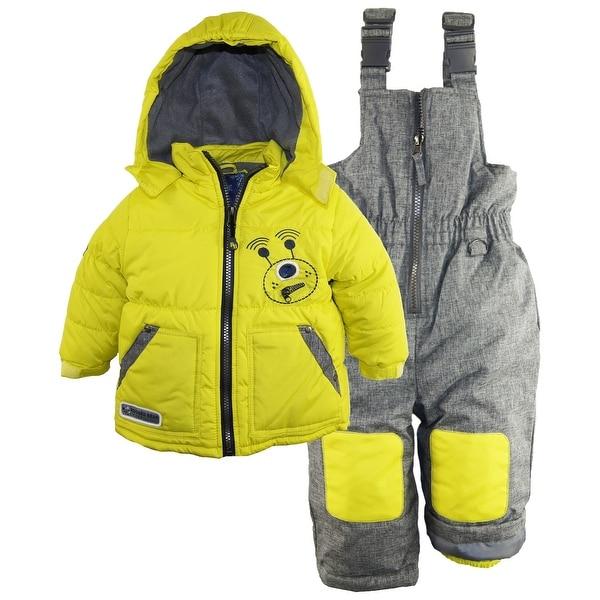 shop rugged bear baby boys 39 robot winter 2 piece snowsuit. Black Bedroom Furniture Sets. Home Design Ideas