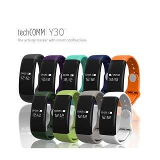 TechComm Y30 Water-resistant Fitness Activity Tracker with Heart Rate Monitor, Pedometer, Sedentary Reminder and Sleep Monitor (Option: White)|https://ak1.ostkcdn.com/images/products/is/images/direct/6e33e1752dca69e80c3e1245f90bf9da1196312a/TechComm-Y30-Water-resistant-Fitness-Activity-Tracker-with-Heart-Rate-Monitor%2C-Pedometer%2C-Sedentary-Reminder-and-Sleep-Monitor.jpg?impolicy=medium