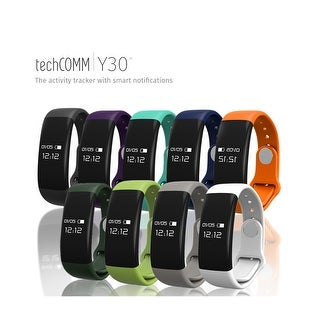 TechComm Y30 Water Resistant Fitness Tracker Heart Rate iOS & Android (More options available)