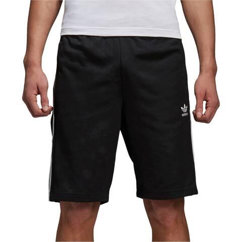 Adidas Mens Snap Athletic Workout Shorts, black, XX-Large