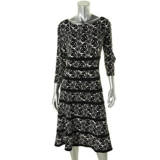 Anne Klein Womens Printed Banded Wear to Work Dress - 4