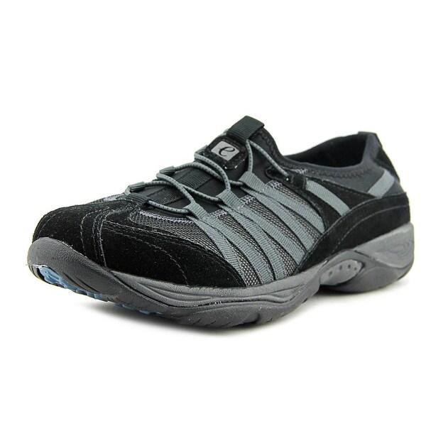 Easy Spirit Ezrise Women Round Toe Canvas Black Sneakers