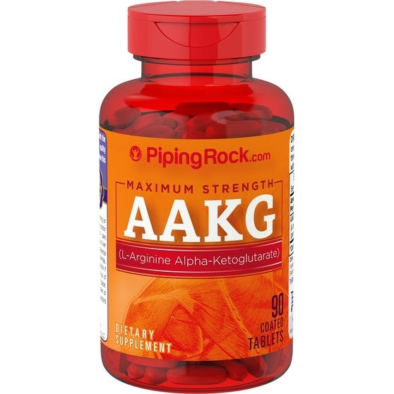 Piping Rock Maximum Strength Arginine AAKG (Nitric Oxide Enhancer) 1200mg (90 Coated Caplets)