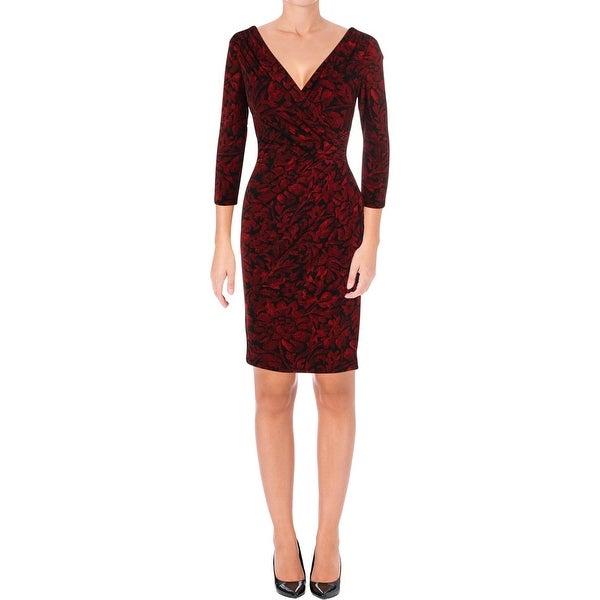 cccc24e26fb Shop Lauren Ralph Lauren Womens Party Dress Jersey Floral Print ...